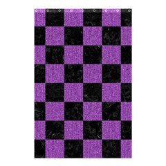 Square1 Black Marble & Purple Denim Shower Curtain 48  X 72  (small)  by trendistuff