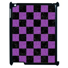 Square1 Black Marble & Purple Denim Apple Ipad 2 Case (black) by trendistuff