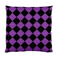 Square2 Black Marble & Purple Denim Standard Cushion Case (two Sides) by trendistuff