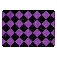 Square2 Black Marble & Purple Denim Samsung Galaxy Tab 10 1  P7500 Flip Case by trendistuff