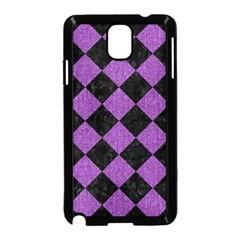 Square2 Black Marble & Purple Denim Samsung Galaxy Note 3 Neo Hardshell Case (black) by trendistuff