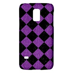 Square2 Black Marble & Purple Denim Galaxy S5 Mini by trendistuff