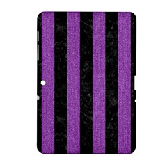 Stripes1 Black Marble & Purple Denim Samsung Galaxy Tab 2 (10 1 ) P5100 Hardshell Case  by trendistuff