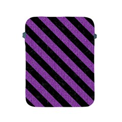 Stripes3 Black Marble & Purple Denim Apple Ipad 2/3/4 Protective Soft Cases by trendistuff