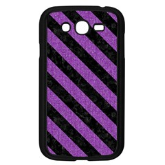 Stripes3 Black Marble & Purple Denim Samsung Galaxy Grand Duos I9082 Case (black) by trendistuff