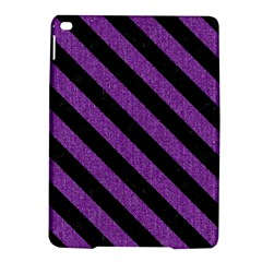 Stripes3 Black Marble & Purple Denim Ipad Air 2 Hardshell Cases by trendistuff