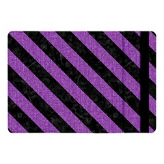 Stripes3 Black Marble & Purple Denim Apple Ipad Pro 10 5   Flip Case
