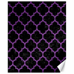 Tile1 Black Marble & Purple Denim (r) Canvas 16  X 20   by trendistuff