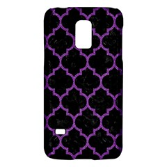 Tile1 Black Marble & Purple Denim (r) Galaxy S5 Mini by trendistuff