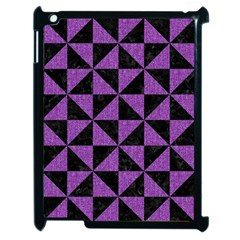 Triangle1 Black Marble & Purple Denim Apple Ipad 2 Case (black) by trendistuff