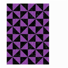 Triangle1 Black Marble & Purple Denim Small Garden Flag (two Sides) by trendistuff