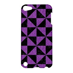 Triangle1 Black Marble & Purple Denim Apple Ipod Touch 5 Hardshell Case by trendistuff