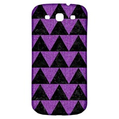 Triangle2 Black Marble & Purple Denim Samsung Galaxy S3 S Iii Classic Hardshell Back Case by trendistuff