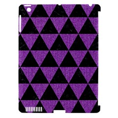 Triangle3 Black Marble & Purple Denim Apple Ipad 3/4 Hardshell Case (compatible With Smart Cover) by trendistuff