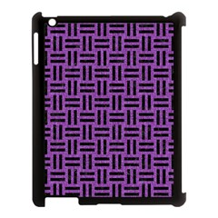 Woven1 Black Marble & Purple Denim Apple Ipad 3/4 Case (black) by trendistuff