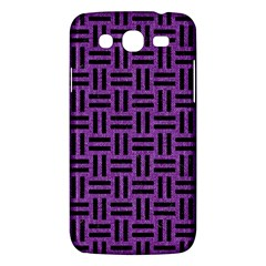 Woven1 Black Marble & Purple Denim Samsung Galaxy Mega 5 8 I9152 Hardshell Case  by trendistuff