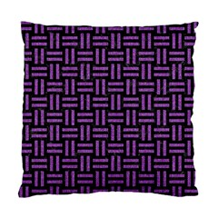 Woven1 Black Marble & Purple Denim (r) Standard Cushion Case (two Sides) by trendistuff