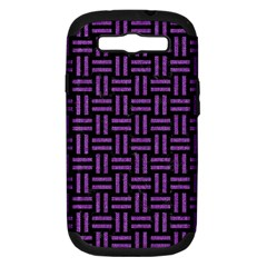 Woven1 Black Marble & Purple Denim (r) Samsung Galaxy S Iii Hardshell Case (pc+silicone) by trendistuff