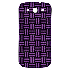 Woven1 Black Marble & Purple Denim (r) Samsung Galaxy S3 S Iii Classic Hardshell Back Case by trendistuff