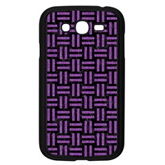 Woven1 Black Marble & Purple Denim (r) Samsung Galaxy Grand Duos I9082 Case (black) by trendistuff