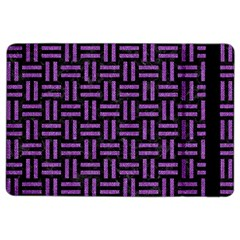 Woven1 Black Marble & Purple Denim (r) Ipad Air 2 Flip by trendistuff