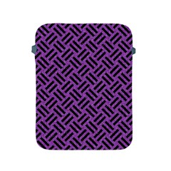Woven2 Black Marble & Purple Denim Apple Ipad 2/3/4 Protective Soft Cases by trendistuff