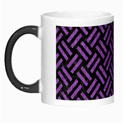 Woven2 Black Marble & Purple Denim (r) Morph Mugs by trendistuff