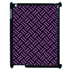 Woven2 Black Marble & Purple Denim (r) Apple Ipad 2 Case (black) by trendistuff