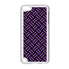 Woven2 Black Marble & Purple Denim (r) Apple Ipod Touch 5 Case (white) by trendistuff