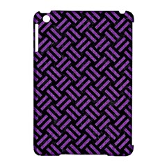 Woven2 Black Marble & Purple Denim (r) Apple Ipad Mini Hardshell Case (compatible With Smart Cover) by trendistuff