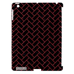 Brick2 Black Marble & Red Denim (r) Apple Ipad 3/4 Hardshell Case (compatible With Smart Cover) by trendistuff