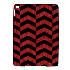 Chevron2 Black Marble & Red Denim Ipad Air 2 Hardshell Cases by trendistuff