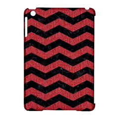Chevron3 Black Marble & Red Denim Apple Ipad Mini Hardshell Case (compatible With Smart Cover) by trendistuff