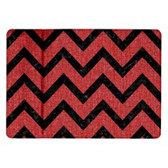 Chevron9 Black Marble & Red Denim Samsung Galaxy Tab 10 1  P7500 Flip Case by trendistuff