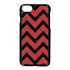 Chevron9 Black Marble & Red Denim Apple Iphone 7 Seamless Case (black) by trendistuff