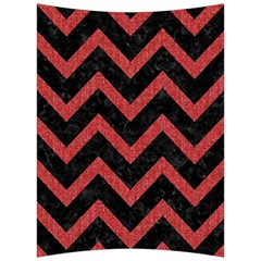 Chevron9 Black Marble & Red Denim (r) Back Support Cushion by trendistuff