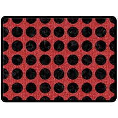 Circles1 Black Marble & Red Denim Double Sided Fleece Blanket (large)  by trendistuff