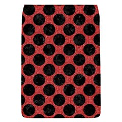 Circles2 Black Marble & Red Denim Flap Covers (s)  by trendistuff