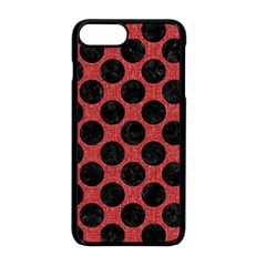 Circles2 Black Marble & Red Denim Apple Iphone 8 Plus Seamless Case (black) by trendistuff