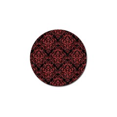 Damask1 Black Marble & Red Denim (r) Golf Ball Marker (4 Pack) by trendistuff