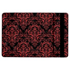 Damask1 Black Marble & Red Denim (r) Ipad Air 2 Flip by trendistuff