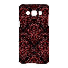 Damask1 Black Marble & Red Denim (r) Samsung Galaxy A5 Hardshell Case