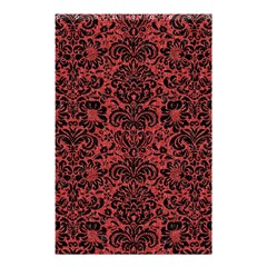 Damask2 Black Marble & Red Denim Shower Curtain 48  X 72  (small)  by trendistuff