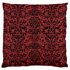Damask2 Black Marble & Red Denim Standard Flano Cushion Case (one Side) by trendistuff