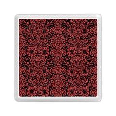 Damask2 Black Marble & Red Denim (r) Memory Card Reader (square)  by trendistuff