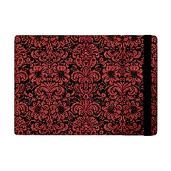 Damask2 Black Marble & Red Denim (r) Apple Ipad Mini Flip Case by trendistuff