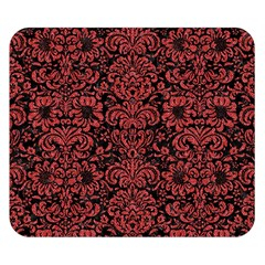 Damask2 Black Marble & Red Denim (r) Double Sided Flano Blanket (small)  by trendistuff