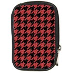 HOUNDSTOOTH1 BLACK MARBLE & RED DENIM Compact Camera Cases Front