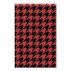 Houndstooth1 Black Marble & Red Denim Shower Curtain 48  X 72  (small)  by trendistuff