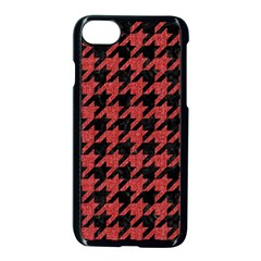 Houndstooth1 Black Marble & Red Denim Apple Iphone 8 Seamless Case (black) by trendistuff